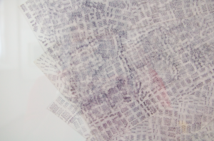 Sellos, tinta sobre papel albanene, 110 diámetro, 2020